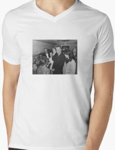 LBJ Taking The Oath On Air Force One Mens V-Neck T-Shirt