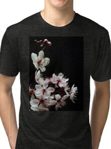 Beautiful blossoms on black Tri-blend T-Shirt
