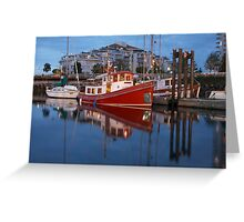 A Tugboat in Port Greeting Card