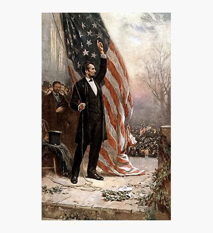 President Abraham Lincoln Giving A Speech Photographic Print