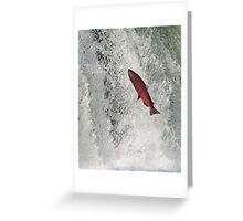 The Leaping Salmon Greeting Card