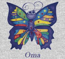 OMA with Colourful Yoga Butterfly Kids Clothes