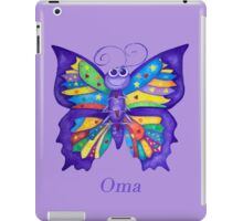 OMA with Colourful Yoga Butterfly iPad Case/Skin