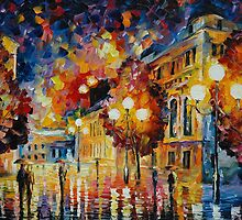PREDESTINATION  - original oil painting on canvas by Leonid Afremov by Leonid  Afremov