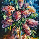 LILAC  - original oil painting on canvas by Leonid Afremov by Leonid  Afremov