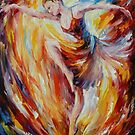 FLAMING DANCE - original oil painting on canvas by Leonid Afremov by Leonid  Afremov