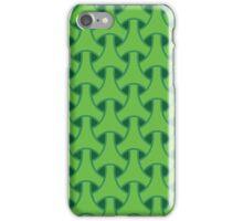 Green geometric pattern iPhone Case/Skin