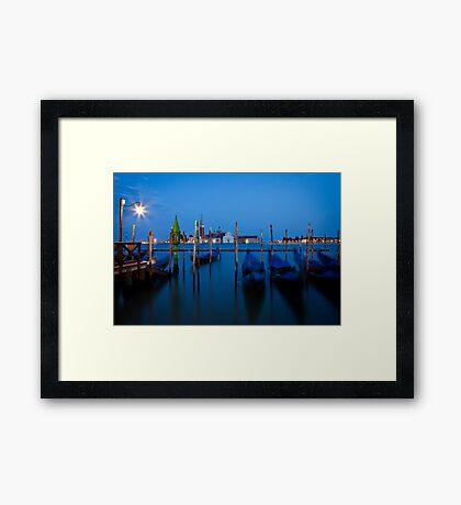 Venenzia Gondolas Framed Print