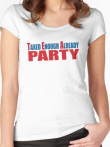 Tea Party Shirt Women's Fitted Scoop T-Shirt