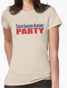 Tea Party Shirt Womens Fitted T-Shirt