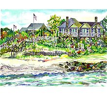 Houses @ Woodneck Beach Photographic Print