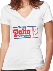 Sarah Palin Shirt Women's Fitted V-Neck T-Shirt