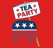 Tea Party Republican Shirt One Piece - Long Sleeve