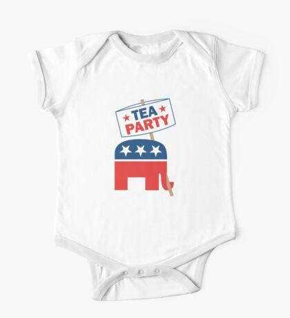 Tea Party Republican Shirt One Piece - Short Sleeve