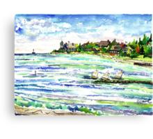 The Point @ New Silver Beach Canvas Print