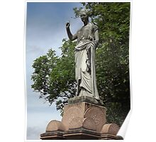 Norwood cemetary: Sculpture: Ancient looking young lady -(220811b)- Digital photo Poster