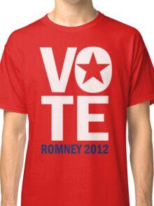 Vote Romney 2012 Classic T-Shirt