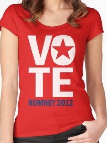 Vote Romney 2012 Women's Fitted Scoop T-Shirt