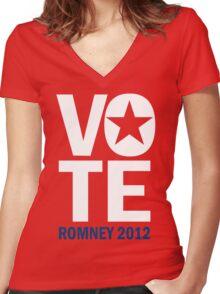 Vote Romney 2012 Women's Fitted V-Neck T-Shirt