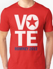 Vote Romney 2012 Unisex T-Shirt