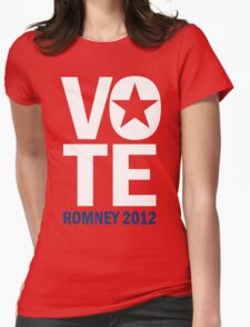 Vote Romney 2012 Womens Fitted T-Shirt