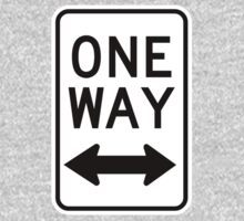 One Way Sign (Which Way?) One Piece - Long Sleeve