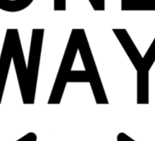 One Way Sign (Which Way?) Sticker
