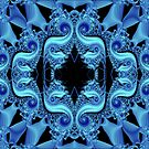 Blue Fractalicious by Charldia