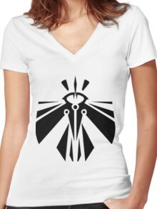 Rank-Up-Magic Revolution force Women's Fitted V-Neck T-Shirt