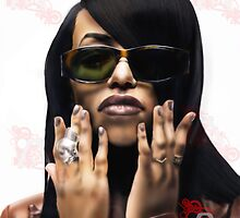 Aaliyah 25th 10yrs by BiteMyTalent