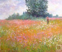 Meadow in July by Julia Lesnichy