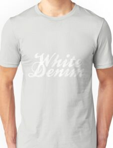White Denim, White Ink Unisex T-Shirt