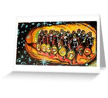 13 masked mariachis Greeting Card