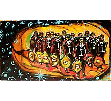 13 masked mariachis Photographic Print