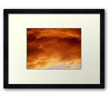 Candy Floss Cloud's Framed Print