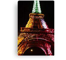 Parisian Mosaic - Piece 21 - The Eiffel Tower Night Light Canvas Print