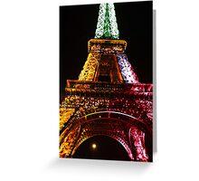 Parisian Mosaic - Piece 21 - The Eiffel Tower Night Light Greeting Card