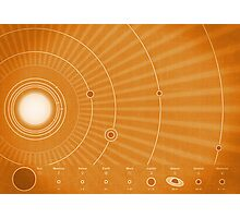 Solar System Hot Photographic Print