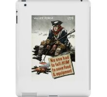 Valley Forge Soldier -- WW2 Propaganda iPad Case/Skin