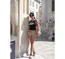 Lily in Dubrovnik - 2 Photographic Print