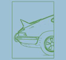 Porsche 911 2.7 RS - The Business End. (Green) One Piece - Short Sleeve