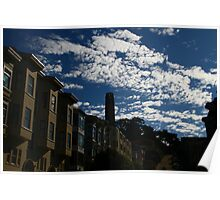 Coit Tower under the Clouds Poster