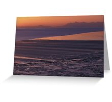 Sunset over Cook Inlet Greeting Card