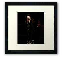 Chaplin Lookalike Framed Print