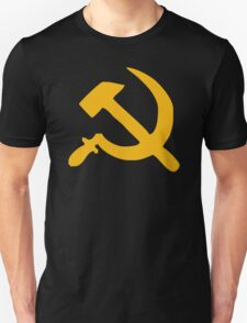 HAMMER AND SICKLE Retro style USSR COMMUNIST Russian cold war T-Shirt