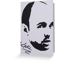 Karl Pilkington Greeting Card
