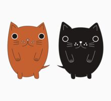 Two silly Cartoon Cats Kids Clothes