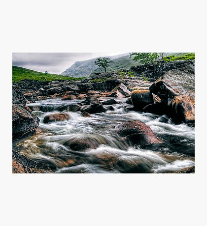 Rushing River, Glen Etive Photographic Print