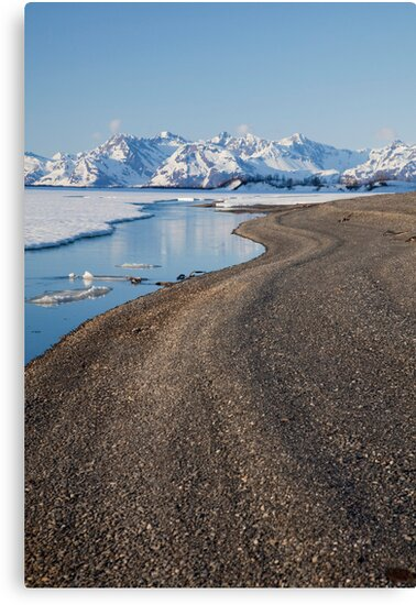 Ribbons of Gravel Along the Copper River by Tim Grams