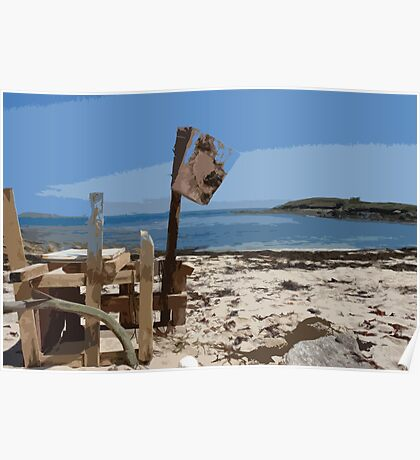 Beach bar, St Mary's Isles of Scilly Poster